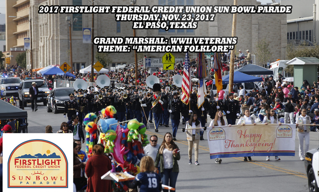 81st Annual FirstLight Federal Credit Union Sun Bowl Parade Scheduled for a 9:45 a.m. Start on Thanksgiving Morning